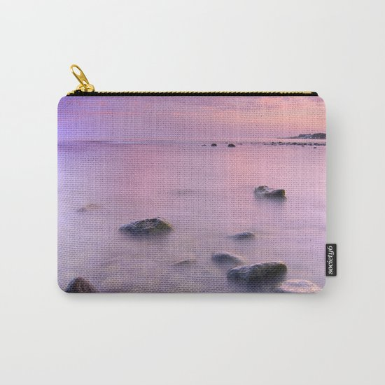 """""""Pink Sunset. Mediterranean sea."""" Carry-All Pouch"""