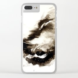 Black + White 2 Clear iPhone Case