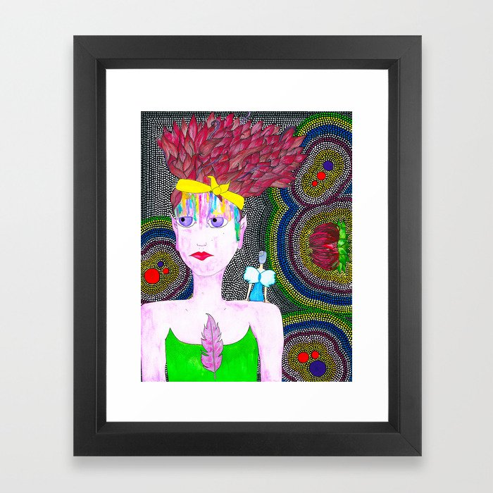She Started To Know Herself Framed Art Print