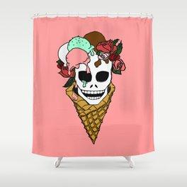Hella Strawberry Shower Curtain