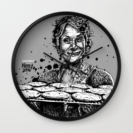 Carol's Got Cookies! From the Walking Dead. Melissa McBride in comic book form. Wall Clock