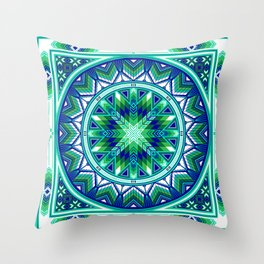 Sacred Places Green Throw Pillow