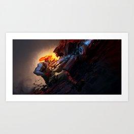 Battle from sights Art Print