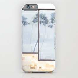 Rainy Days and Palm Tree Reflections iPhone Case