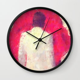 Blood Red Rose Wall Clock