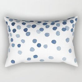 Blue Confetti Falling From the Sky Rectangular Pillow