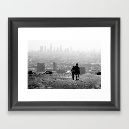 Distant City Framed Art Print