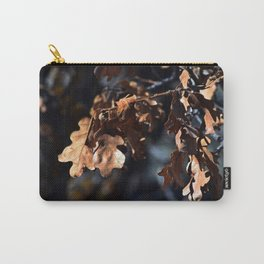 Winter oak leaves Carry-All Pouch