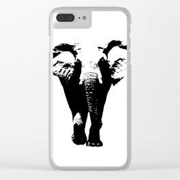 Elephant Silhouette Clear iPhone Case