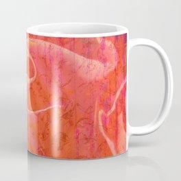 Flaming Rose, Floral Abstract Art Coffee Mug