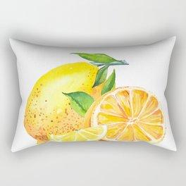 Watercolor lemon fruit. Rectangular Pillow