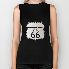 Blank Route 66 Sign Biker Tank