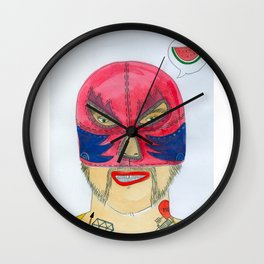 Wrestler Wall Clock