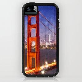 City Art Golden Gate Bridge Composing iPhone Case