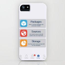 Cydia Manage iPhone Case