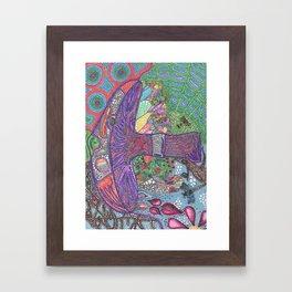 MakeYourOwn Mushroom Thoughts Framed Art Print