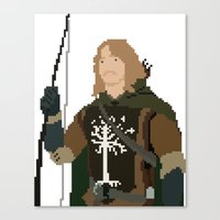 gondor Canvas Prints featuring Fara-Bit Captain of Gondor by SamuelJay