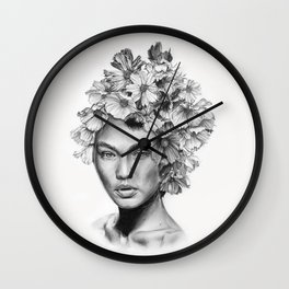 Gigi's flowers Wall Clock