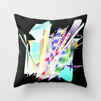 band Throw Pillows featuring Jazz Band by Nancy Smith