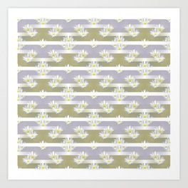 Mix of formal and modern with anemones and stripes 4 Art Print