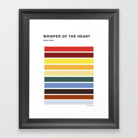 The colors of - Whisper of the heart Framed Art Print