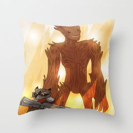 A RACOON AND A TREE Throw Pillow