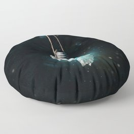 birth of the light Floor Pillow