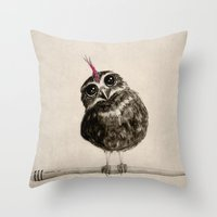 punk Throw Pillows featuring Punk by Isaiah K. Stephens