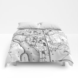 Vintage Map of Trenton NJ (1872) Comforters