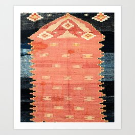 South West Anatolia  Antique Turkish Niche Kilim Print Kunstdrucke