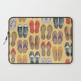 Hard choice // shoes on yellow background Laptop Sleeve
