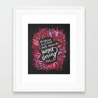 fitzgerald Framed Art Prints featuring Zelda Fitzgerald – Pink on Charcoal by Cat Coquillette