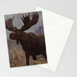 Vintage Moose Painting (1909) Stationery Cards