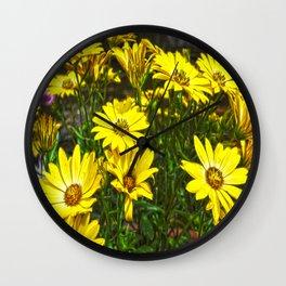 daisys flowers Wall Clock
