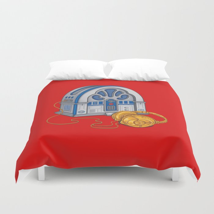 Beats by Droid - Recycled Future Duvet Cover