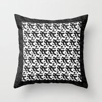 typo Throw Pillows featuring Haiku typo by Manimoo