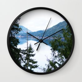 Lake Crescent, Olympic National Park Wall Clock