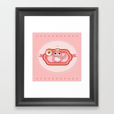 Pink lady with sweets Framed Art Print
