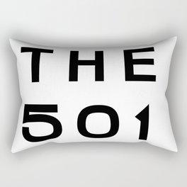 501 Arkansas Area Code Typography Rectangular Pillow
