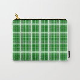 Christmas Green Tartan Plaid Check Carry-All Pouch