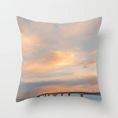Sunset Sky Bridge Throw Pillow