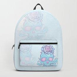 Skull rose plain Backpack