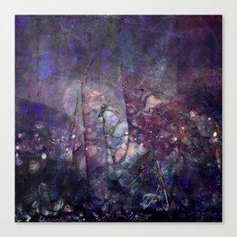 Cracked Purple Geode Texture Canvas Print