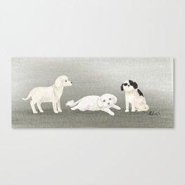 Dog Trio Canvas Print