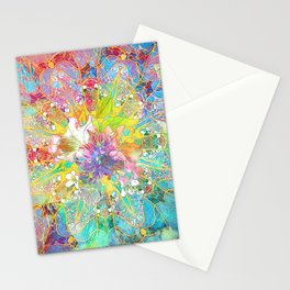 Flowers Dream Pattern Stationery Cards