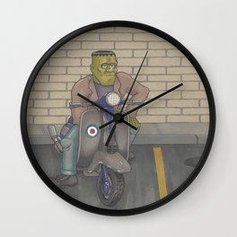 Frankenstein Scooter Wall Clock
