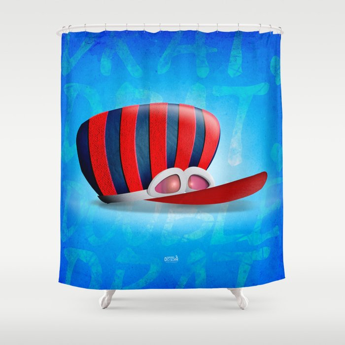 Great Dick, The Wackiest Racer of all... Shower Curtain
