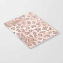 Rosegold Blush Leopard Glitter Notebook