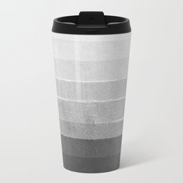 Brushstroke - Ombre Grey, Charcoal, minimal, Monochrome, black and white, trendy,  painterly art  Metal Travel Mug