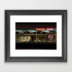 A Night at George's Diner Framed Art Print